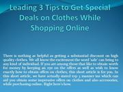 Leading 3 Tips to Get Special Deals on Clothes While Shopping Online