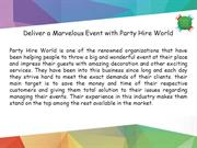 Party Hire in Sydney