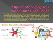 7 Tips for Managing Your Brand Online Reputation