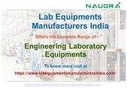 Engineering Laboratory Equipments Manufacturers in India