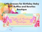 Dresses for birthday baby girl