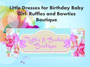 Birthday Girl dresses for girls