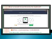 How to Install Avast Security for Android?