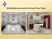 White Bathroom and Kitchen Floor Tiles