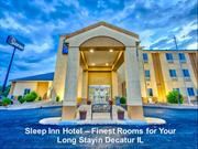 Sleep Inn Hotel - Finest Rooms for Your Long Stayin Decatur IL