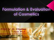 8 Formulation & Evaluation of Cosmetics