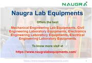 Mechanical Engineering Lab Equipments Manufacturers in India