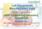 Civil Engineering Laboratory Equipments Manufacturers in India