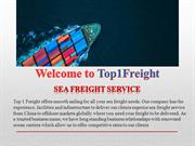 Sea Freight Service Experts for Large, Heavy & Odd Shaped Containers