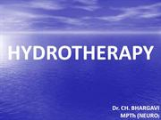 Hydrotherapy- New