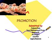 Marketing Promotion and sales