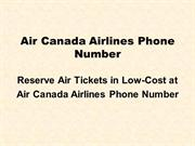 Reserve Air Tickets in Low-Cost at Air Canada Airlines Phone Number