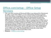 Office.com/setup - Office Setup Versions