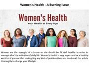 Women's Health - A Burning Issue-converted