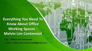 Everything You Need To Know About Office Working Spaces  Melvin Lim C