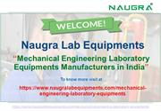 Mechanical Engineering Laboratory Equipments Manufacturers in India