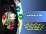 Affordable Content Writing Packages Provide You Many Benefits for Gene