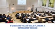5 Questions to Ask while Planning a Conference Website