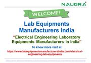 Electrical Engineering Laboratory Equipments Manufacturers in India