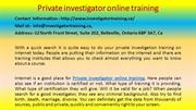 Private investigator online training
