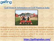 Golf News & Information on Golf Players in India