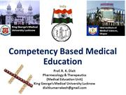 Competency Based Medical Education_Prof R. K. Dixit_KGMU_Lucknow