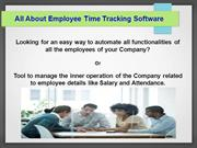 All About Employee Time Tracking Software