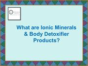 What are Ionic Minerals & Body Detoxifier Products?