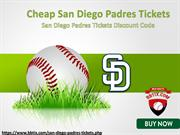 San Diego Padres Tickets Discount Coupon