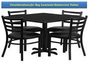 Considerations for Buy Laminate Restaurant Tables