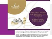 Join Us At Jacobs the Jewellers 2019 Wedding Ring Special Event