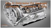 Way to Determine the Damaged Automatic Transmission of Cars
