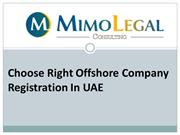 Choose Right Offshore Company Registration In UAE