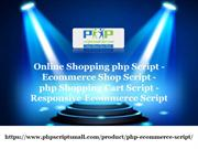 Online Shopping php Script, Ecommerce Shop Script, php Shopping Cart S