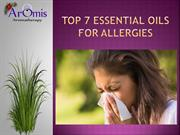 Top 7 Essential Oils for Allergies