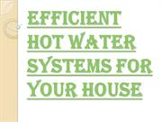 Things You Should Consider While Getting Hot Water System Installation