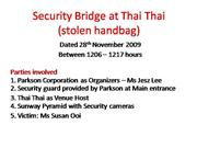 Security Bridge at Thai Thai