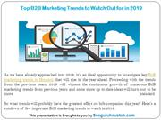 Top B2B Marketing Trends to Watch Out for in 2019