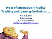 Integration in Medical Learning and Teaching