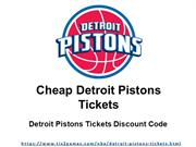 Detroit Pistons Tickets Discount
