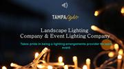 Professional Lighting Services Tampa - Tampa Lights