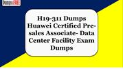 Huawei H19-311Exam Questions Answers Dumps PDF