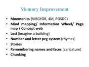 MEMORY Improve_Methods_Case Study Method