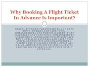 Why Booking A Flight Ticket In Advance Is