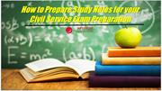 How to Prepare Study Notes for your Civil Service Exam Preparation