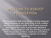Reboot Foundation - Reboot-foundation