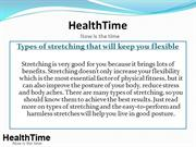 Types of stretching that will keep you flexible