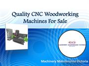 Quality CNC Woodworking Machines For Sale