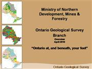 Ontario Geological Survey - Mandate
