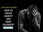 How to treats anxiety and Panic disorder